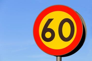 Trafikskylt hastighetsgräns 60 km/h