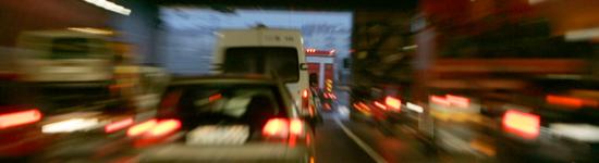 Trafik söderut i Tingstadstunneln