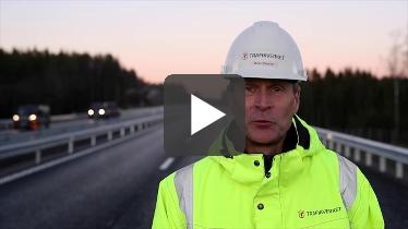 Stillbild på Björn Elfström, projektledare Trafikverket  Foto: Kasper Dudzik