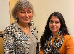 Lena Nyberg, generaldirektör MUCF, och Rosaline Marbinah, ordförande LSU. Foto: Kenneth Condrup