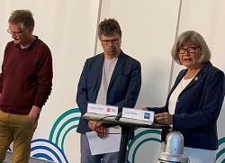 Bild från Folkhälsomyndighetens presskonferens den 25 maj, fr v Anders Tegnell, statsepidemiolog, Svante Werger, särskild rådgivare MSB och Lena Nyberg, generaldirektör, MUCF. Foto: Marcus Årskog/MSB