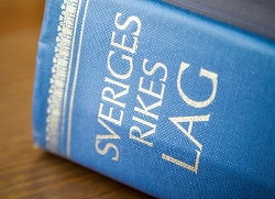 Bild på lagboken, Sveriges rikes lag. Foto:Michael Erhardsson/ Mostphotos