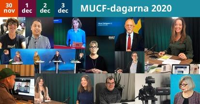 Bildcollage med foton från MUCF-dagarna 2020. Fotograf: Karin Hellström