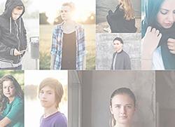 Collage av bilder på unga. Foto: Mostphotos