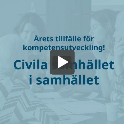 Civila samhället i samhället - Årets tillfälle för kompetensutveckling