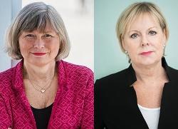 Lena Nyberg, generaldirektör, MUCF (Foto: Felix Oppenheim) och Lena Ag, generaldirektör, Jämställdhetsmyndigheten (Foto: Ester Sorri) i gemensam uppmaning för att lyfta unga kvinnors utsatthet.