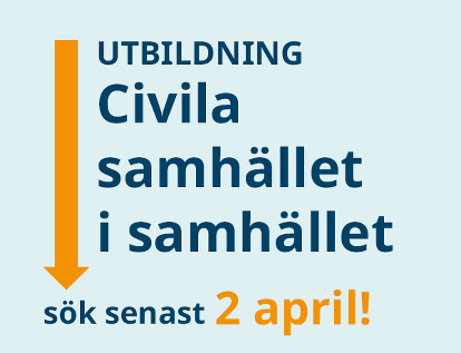 Utbildning Civila samhället i samhället - sök senast 2 april!