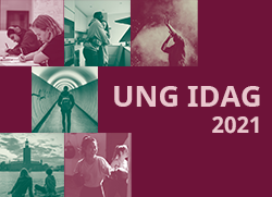 Bilder från rapporten UNG IDAG 2021 på unga personer i olika situationer