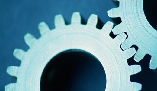 Temabild med två kugghjul
