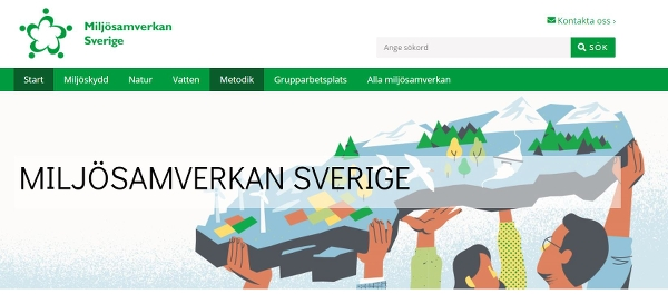Illustration: Några personer lyfter upp landet Sverige ovanför sina huvuden.
