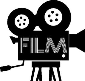 Illustration av en filmkamera,