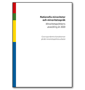 Omslag årsrapporten Nationella minoriteter och minoritetsspråk