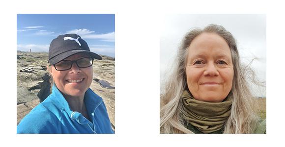 Två porträttfoton i collage. Jessica Wanneman till vänster, Margareta Setterberg till höger.