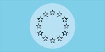 EU-symbol, ring av stjärnor. Illustration