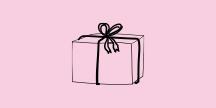 En julklapp. Illustration