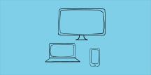 Datorer och smartphone. Illustration