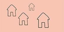 Flera hus. Illustration