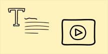 Tekst og video. Illustrasjon
