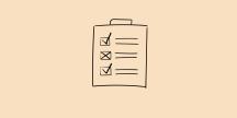 Lista med checkboxar. Illustration