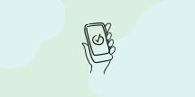 En smartphone och en app. Illustration