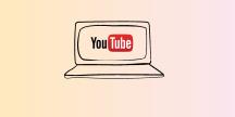 En laptop med YouTube-loggan på skärmen. Illustration